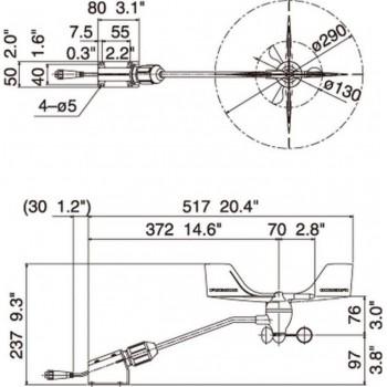 Furuno FI5001 Sonda za FI-70 Staff 372mm