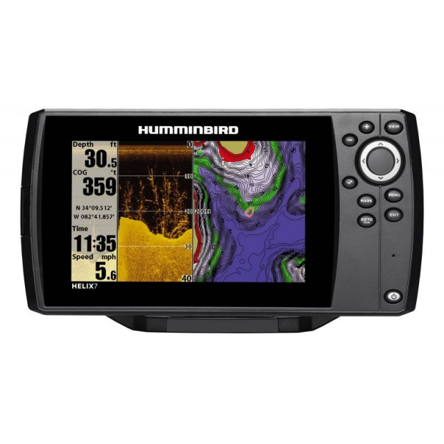 Nautički Sonar Di Humminbird Helix 7 GPS Chartplotter Combined Down Imaging