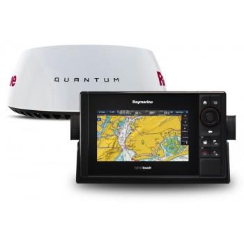 Pakovanje Raymarine eS75 sa Navionics Silver EU Kartografijom + Radar Quantum T70288