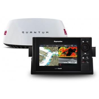Pakovanje Raymarine eS78 sa DownVision + Navionics Silver EU + Radar Quantum T70290