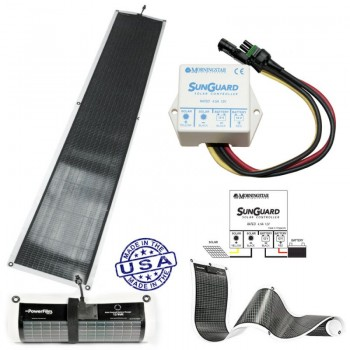 PowerFilm rolo Fotonaposnki Solarni panel 21W/12V + Regulator punjenja